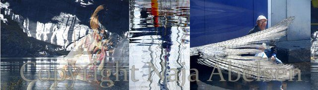 "Photography Triptych ""Artists Rays"" a digital collage by Naja Abelsen"