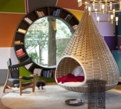 love this bookcase - awf (and hanging chair). Sorry it doesn't link but it's from houzz.com.