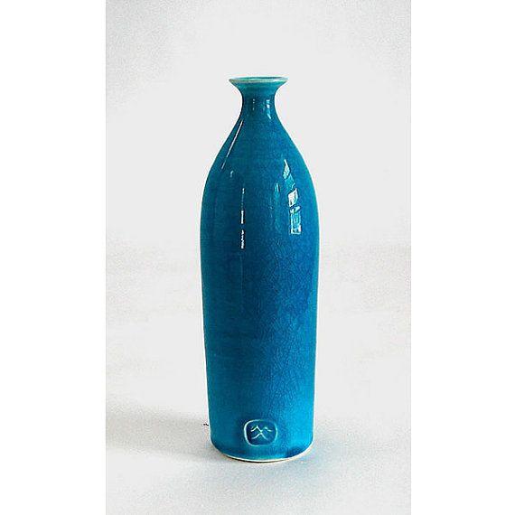 Ceramic White Bottles Trio Set of 3 minimal by blueroompottery