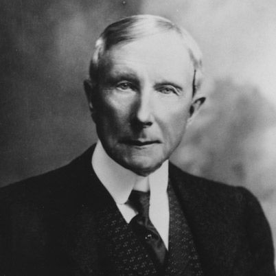 John D Rockefeller (b)  July 08, 1839, New York, NY (d) May 23, 1937    Rockefeller was head of the Standard Oil Company and one of the world's richest men. He used his fortune to fund ongoing philanthropic causes.