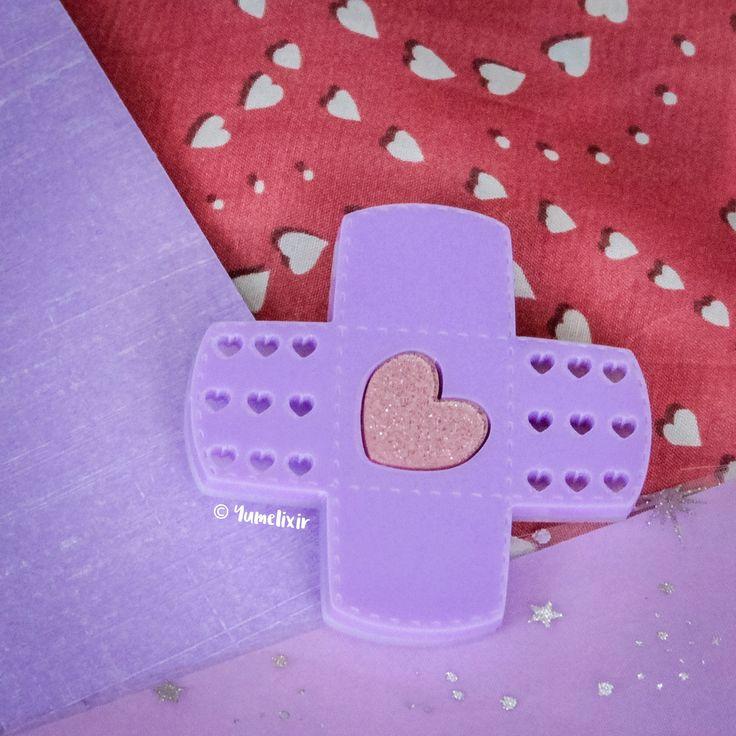 Criss Cross Bandaid Lavender Hair Clip