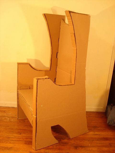 Throne Chair Out Of Corrugated Cardboard