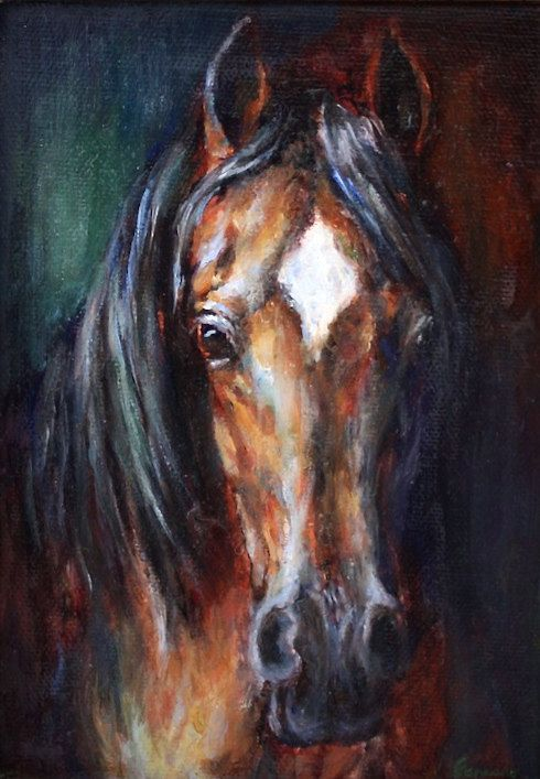 Original Horse Oil Painting-canvas-Original by FerraroFineArt