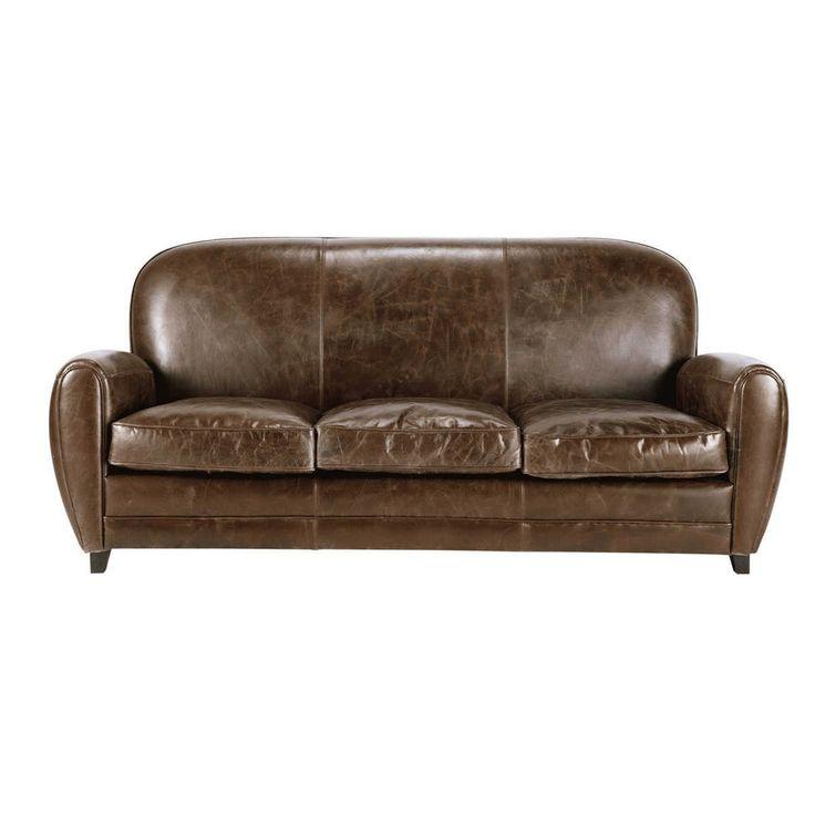 78 id es propos de canap s en cuir marron sur pinterest. Black Bedroom Furniture Sets. Home Design Ideas