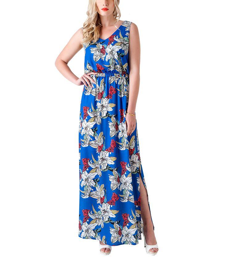 Mπλε μάξι φόρεμα