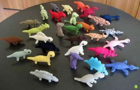 30 #crochet #amigurumi dinosaurs made using @June Gilbank pattern