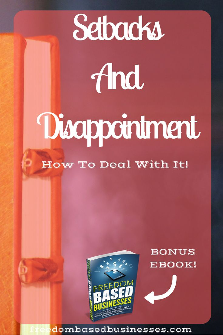 This blog post gives you some books that have helped me to deal with setbacks and disappointment. Read the full blog post to learn more now.