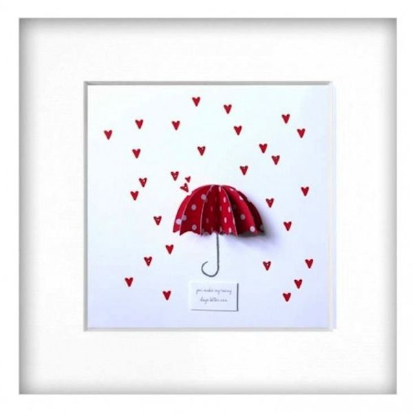 Red Rainy Days Framed Picture - £30 Beautiful picture for a little girls nursery/bedroom or for a cloakroom.