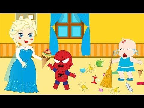 SPIDER-MAN & Frozen Elsa Break up? Funny Prank Snow White Hulk Anna Fun Superheroes In Real Life - YouTube