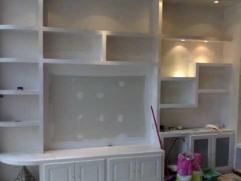 Muebles pladur cancio interiorismo youtube closet for Muebles para hoteleria