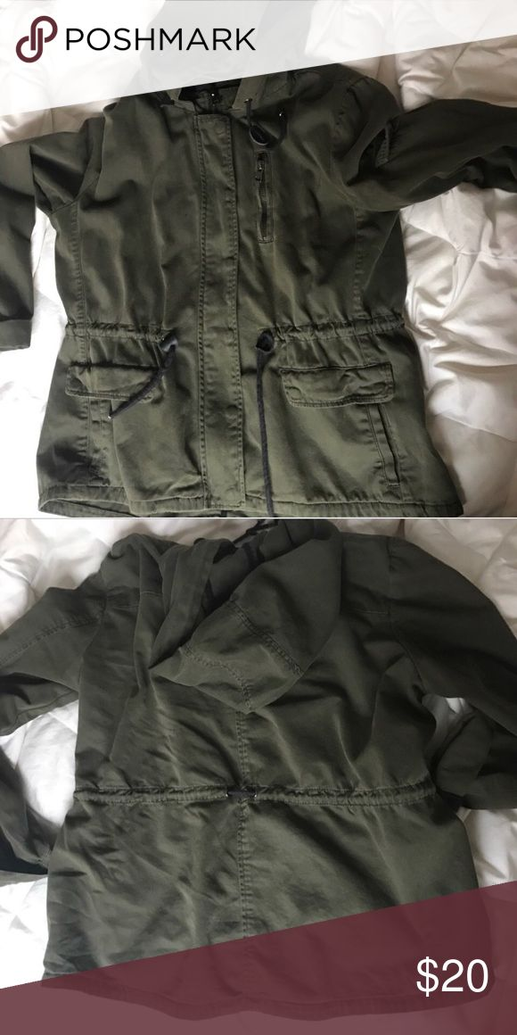 Cute Olive Green Jacket  Great Condition Forever 21 Jackets & Coats