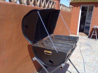 Les 25 meilleures id es concernant construire un barbecue sur pinterest fou - Comment fabriquer un barbecue avec un tonneau ...