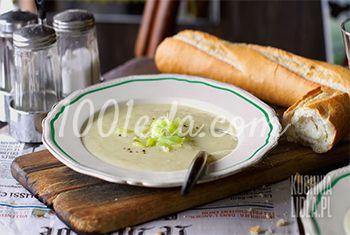Холодный суп с картофелем и луком пореем