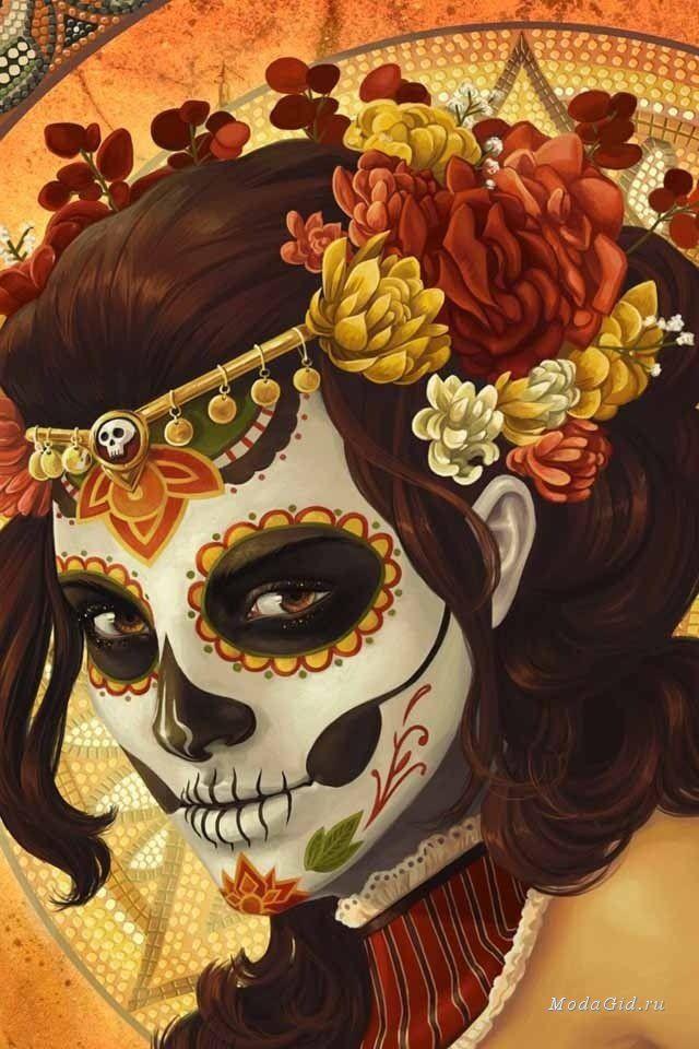 Мода и стиль: Образ на Хэллоуин: Санта Муэрте