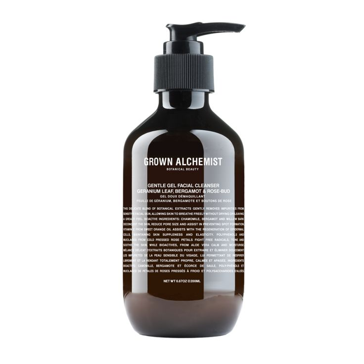 Gentle Gel Facial Cleanser: Geranium Leaf, Bergamot & Rose-Bud - 200mL I like this product but I use cleansers to wash off mascara and I think it stung a little. It does state not to put near eyes!