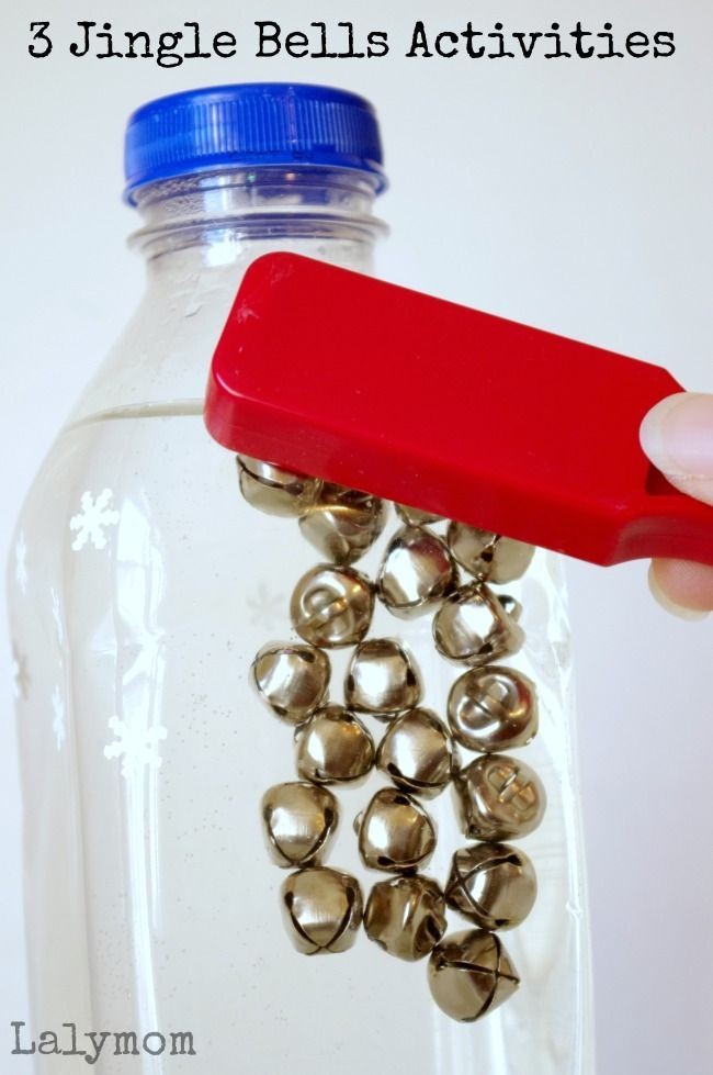 Christmas Activities for Kids - Activities Using Jingle Bells - They pair great with magnets and lids for some fine motor Christmas themed fun!