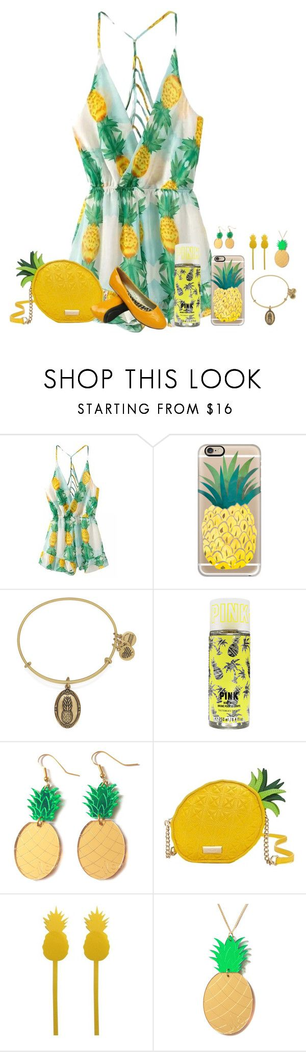 """read d for pineapple joke "" by leighannalane ❤ liked on Polyvore featuring Casetify, Alex and Ani, Kate Spade and Lee Renee"