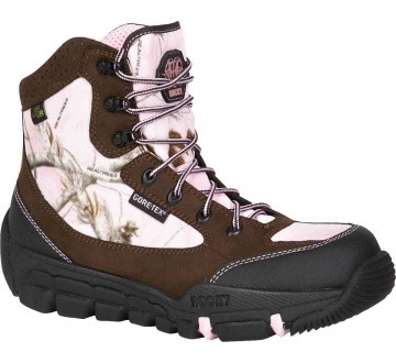 r.Rocky FQ0004161 Athletic Mobility Womens Mid weight Level 2 Boot , Brown/pink realtreecamouflage