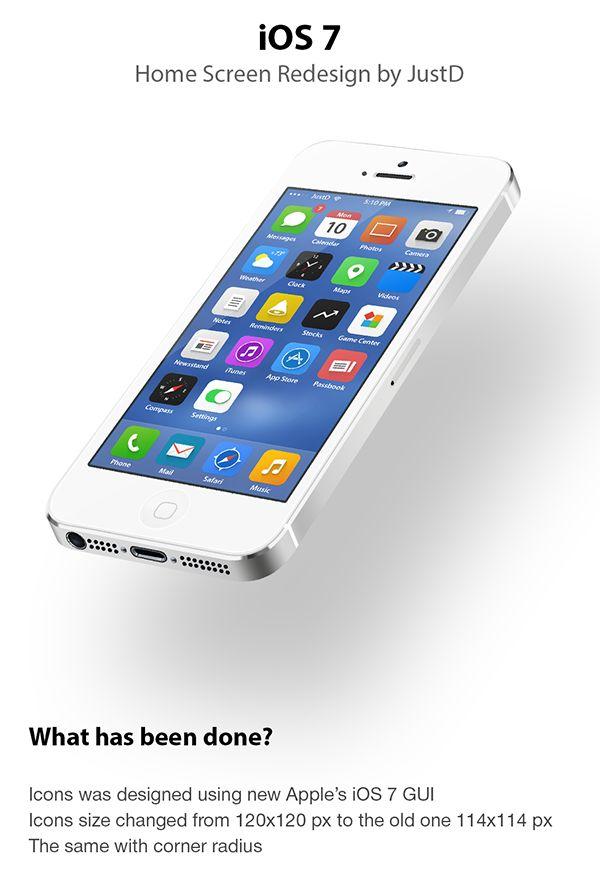 iOS 7 - Redesign by Dmitry Kovalenko, via Behance