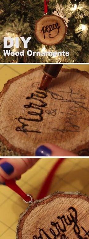 DIY Wooden Christmas Ornaments | DIY Rustic Christmas Decorations Cheap | Homemade Christmas Decor Ideas on a Budget