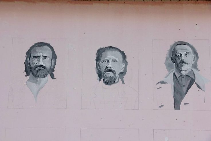 Боровские  фрески.  Владимир  Овчинников,  2002 - 2005. СТЕНА  ПАМЯТИ.