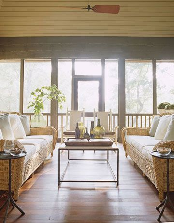 Screened in porch...