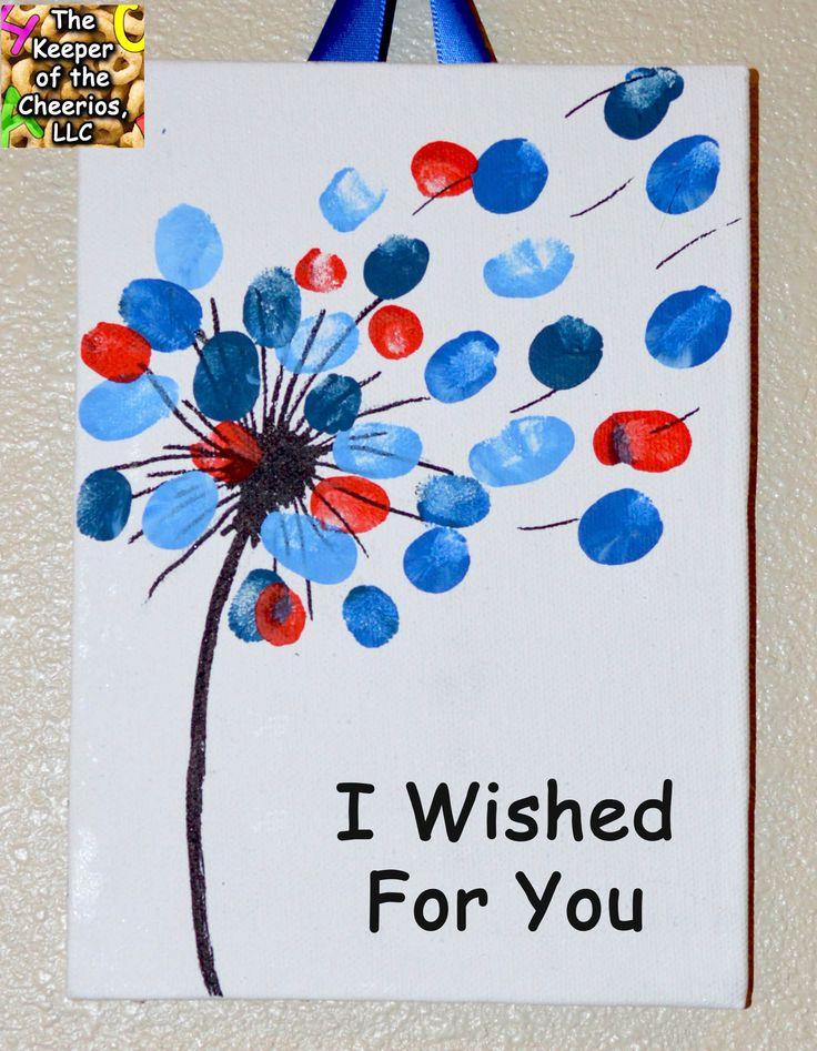 I Wished For You - Valentine's Day Fingerprint Art - Canvas Keepsake Craft