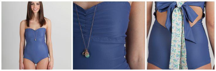 Summer Ribbon - Swimwear Customizable ribbon on the back  thevelvetroom.it shop@thevelvetroom.it