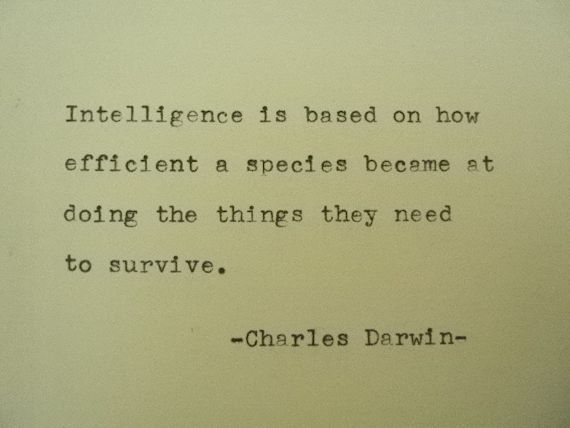 CHARLES DARWIN Quote Hand Typed Quote Made with by PoetryBoutique, $8.00
