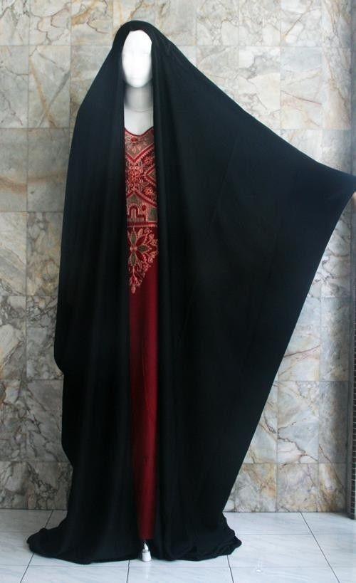 Overhead Knee / Full Length Malhafa Burka Khimar Veil Niqab Chador Abaya Sweater