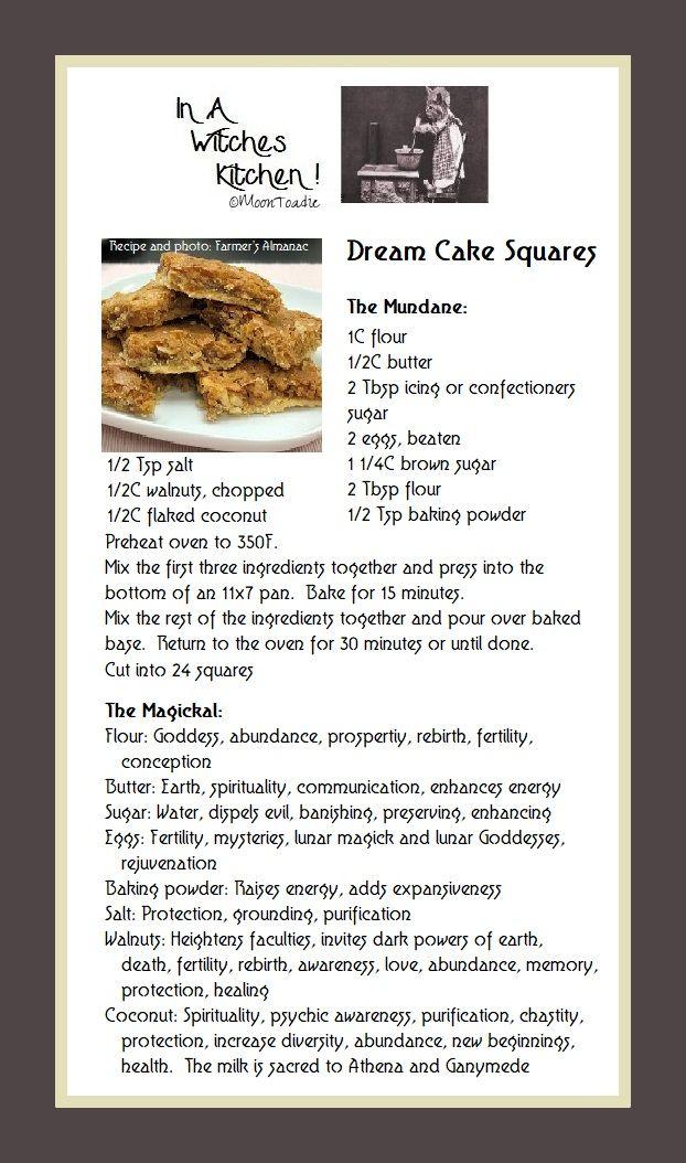 Dream Cake Squares, the mundane and the magickal  | Kitchen