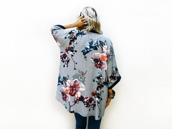 Bohemien Kimono Cardigan giacca leggera estiva di ALUMAhandmade