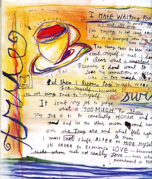 Meer dan 1000 afbeeldingen over Journaling, Art Journaling ... Sabrina Ward Harrison Sketchbook
