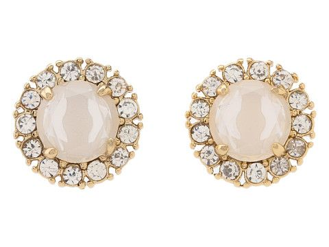 Kate Spade New York Secret Garden Stud Earrings White/Clear - Zappos Couture