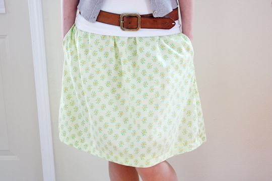 cute homemade skirt.