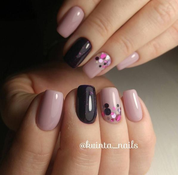 I LOVE THIS THIS!!!!! Striking but tasteful nail art design