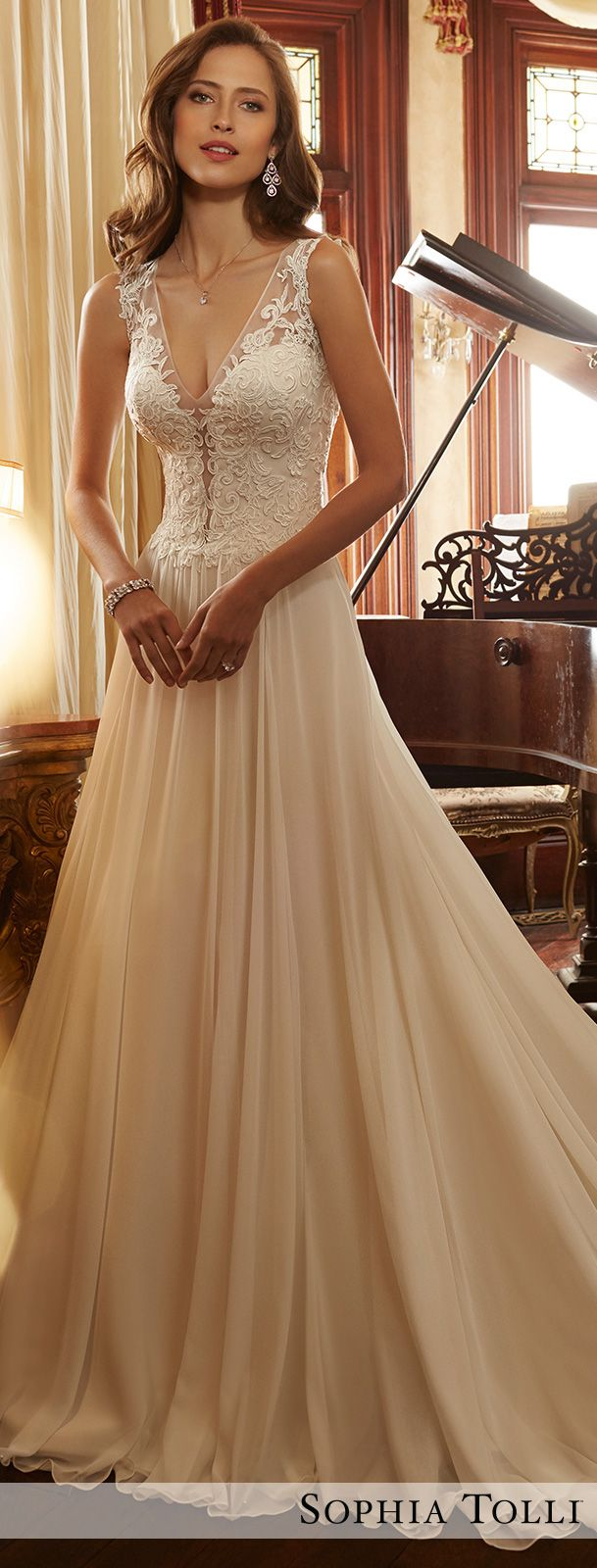 Wedding Dress by Sophia Tolli Spring 2017 Bridal Collection | Style No. » Y11717 Yvette
