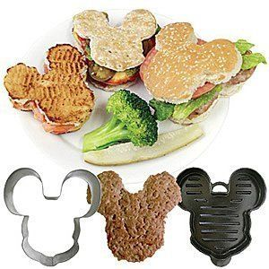 Mickey Mouse Shaped Burgers and BunsDisney Parties, Burgers Press, Disney Vacations, Minnie Mouse, Parties Ideas, Mickey Mouse Clubhouse, Mouse Shape, Buns Cutters, Shape Burgers