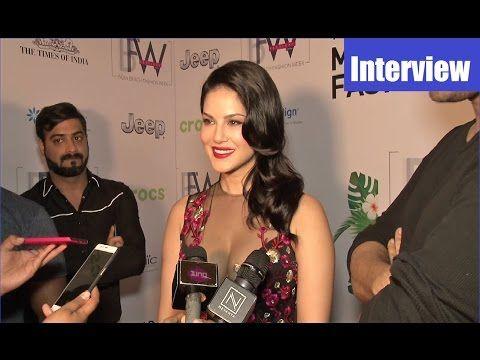 Sunny Leone's post ramp walk interview | Indian Beach Fashion Week 2017.