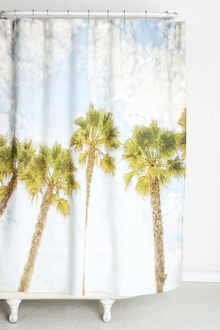 Palm shower curtain - Kimchi Blue Jessa Babydoll Cami Tree Shower Curtainshouse Decorationspalm