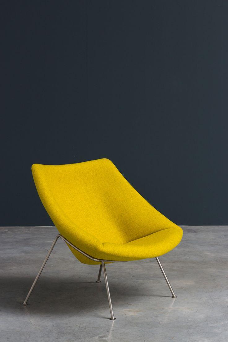 Modern furniture chairs - Paulin Pierre Oyster F156 Lounge Chair Artifort Vintage Furnituremodern