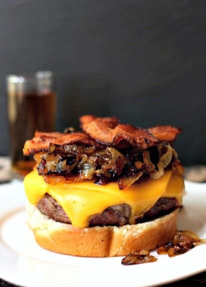 Get your grill ready for this one - soak your burger in whiskey first for the ultimate burger!