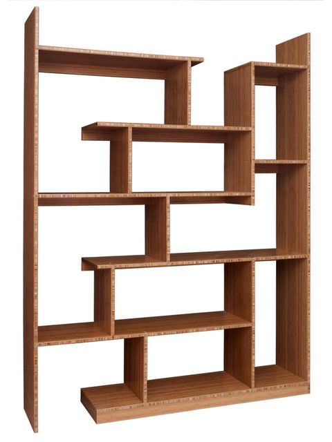 Bamboo Stagger Metro modern wall shelves