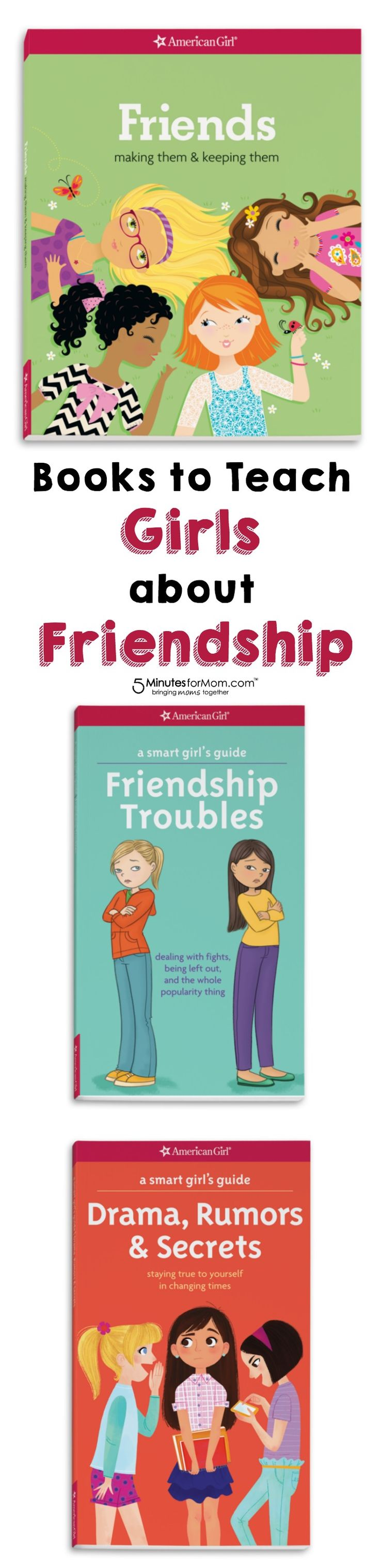 Books to teach girls about friendship. These American Girl books make it easier to get your tween girls talking about mean girl issues such as gossip, drama and bullying.