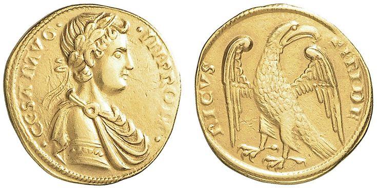 NumisBids: Nomisma Spa Auction 50, Lot 124 : MESSINA Federico II (1197-1250) Augustale Messina – Spahr 99 AU (g...