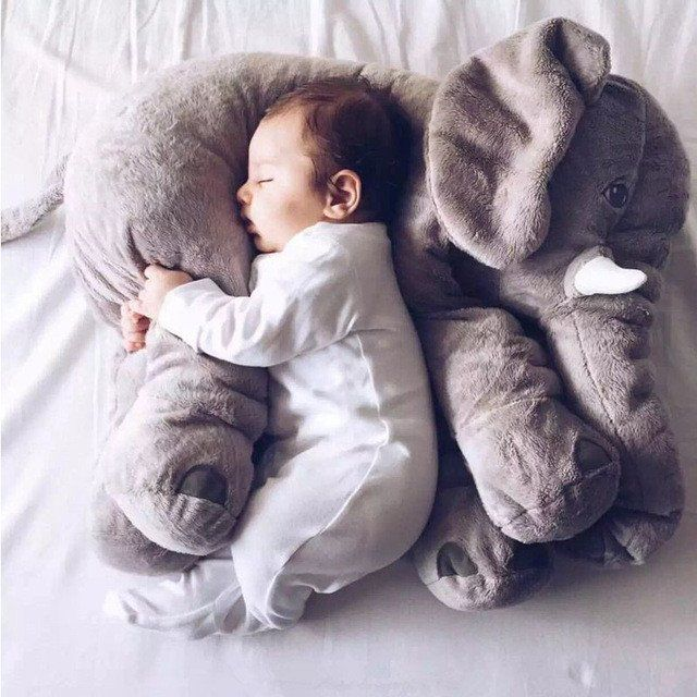 Cute Elephant Cushion - Great for lounging or decoration. Size : 60cm (approx. 24 inches) Material : Cotton / Polyester Warning: Babies should be supervised at all times when using or playing with thi