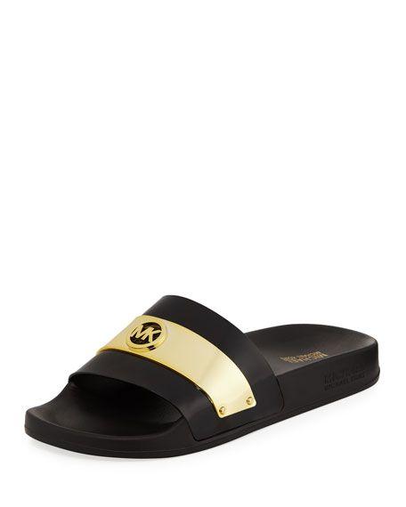 c11941cef6c MICHAEL MICHAEL KORS Jett Logo Slide Sandal