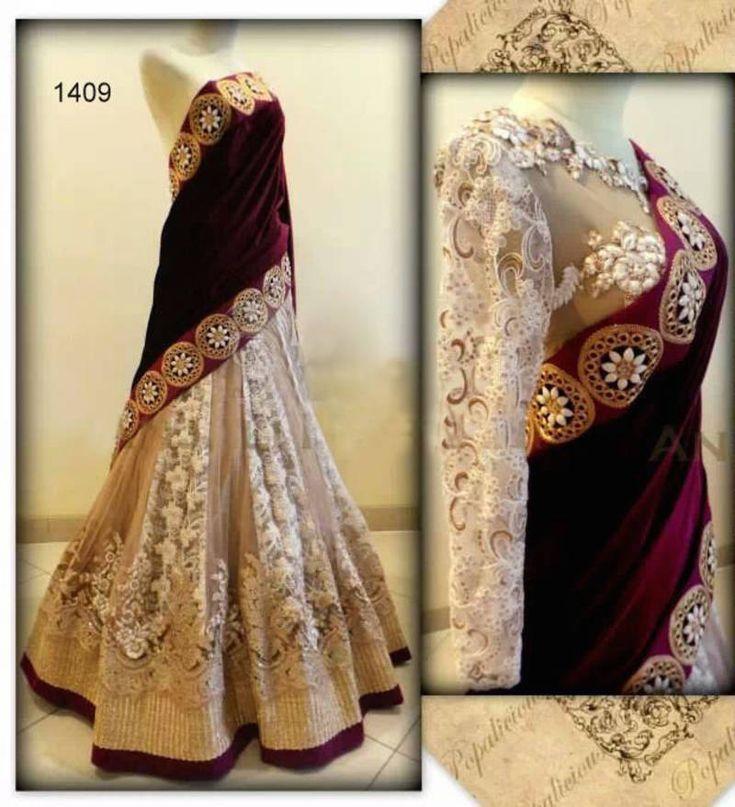 Buy white Embroidered net lehenga bridal-lehengas Online