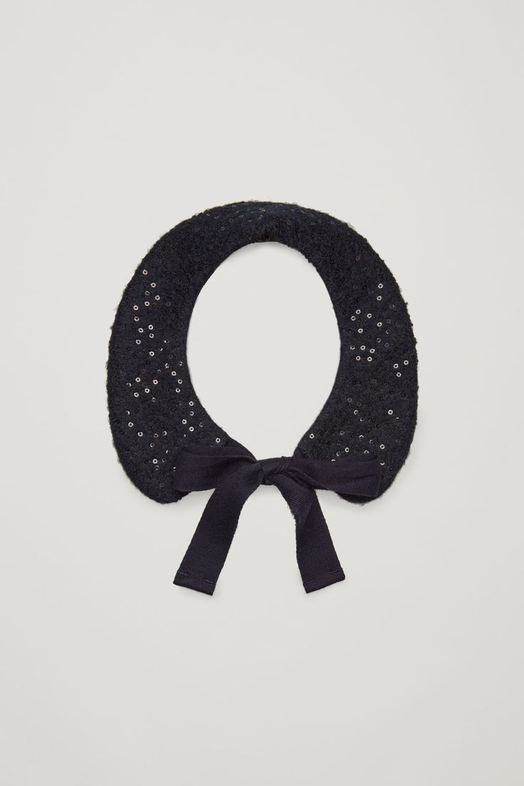 Not 100% sure about this but I'm intrigued ... COS - Sequined mock collar in Blue Dark - £45