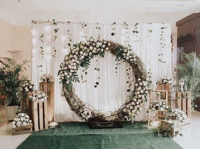 Wedding Backdrop In 2020 Wedding Background Decoration Outdoor Wedding Decorations Diy Wedding Backdrop